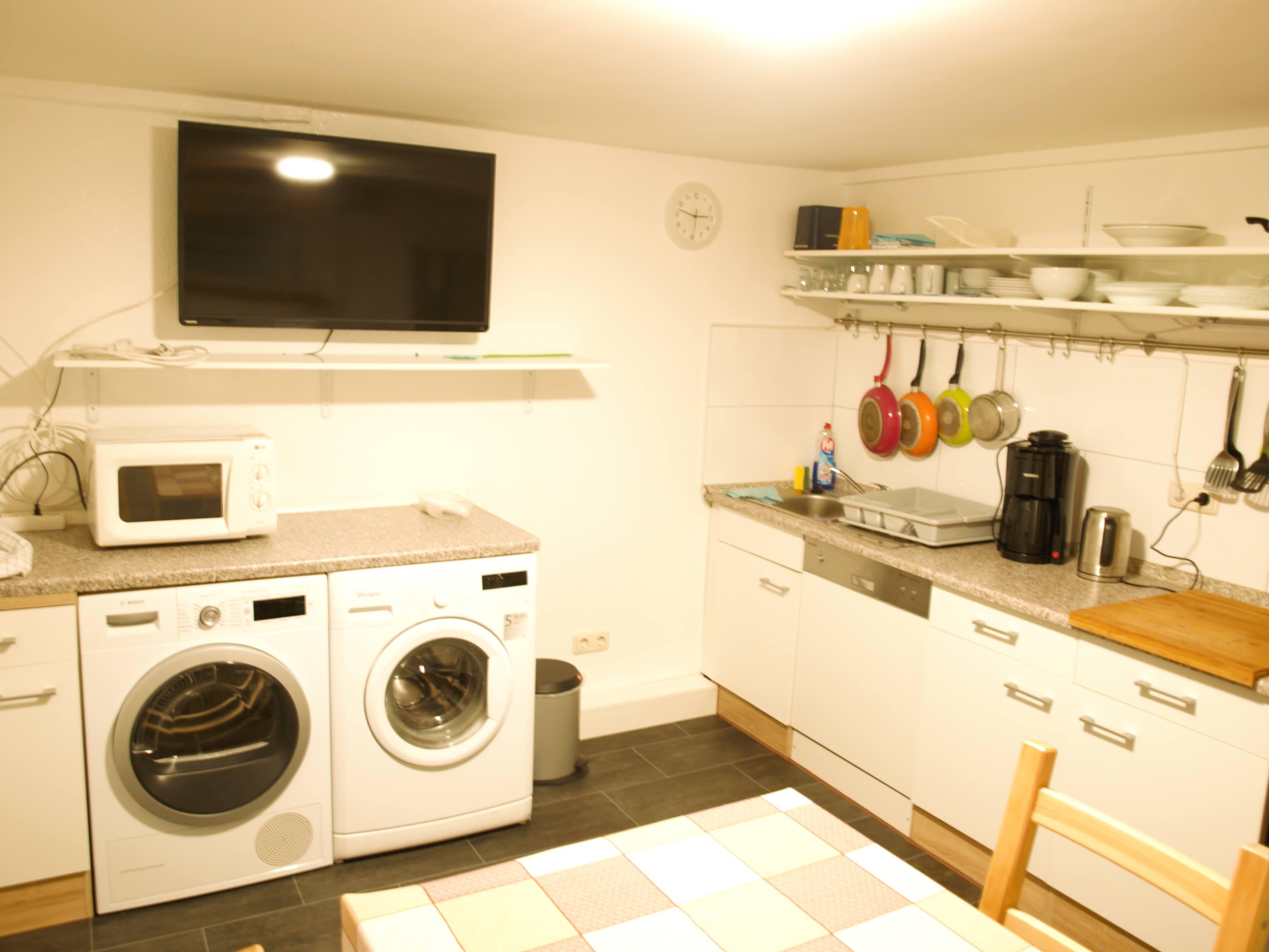 Küche Waschmaschine Monteurzimmer