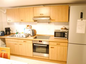 Küche in Unterkunft für Monteure
